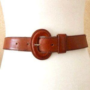 Genuine Leather Belt Cognac Brown SM